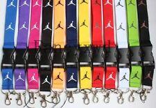 10pcs Jumpman Lanyard Strap Badge ID Running Holder Detachable Key Chains