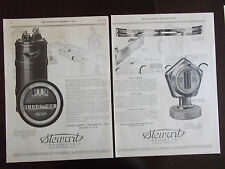 1922 Stewart Auto Products Speedometer Warn-O-Meter 2 Full Pages Advertisement