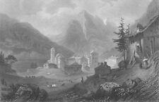 SWITZERLAND. The Simplon ; Finden 1833 old antique vintage print picture