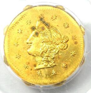 1870 Liberty California Gold Dollar Coin G$1 BG-1118 - PCGS MS63 - $2,900 Value!