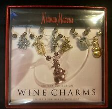 Neiman Marcus Holiday Wine Glass Charms set of 6