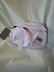 Vans Deluxxer Pack 2 Fanny Pack Pink White Checkerboard Adjustable Waist Strap