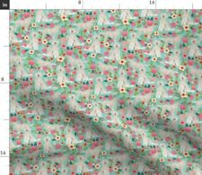 Goldendoodle Dogs Cute Doodles Best Sweet Florals Spoonflower Fabric by the Yard