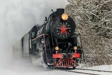 VLIES Fototapete-DAMPFLOK-(1464ah)-Lokomotive Russland Wandbild Dekoration