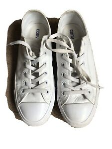Converse All Star White Leather Size 7