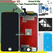 For iPhone 6S LCD Touch Screen Digitizer Display Frame Black Tempered Glass Tape