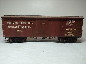 Vintage O Scale Northwesten Reefer wooden kit built old time Fremont Elkhorn MV