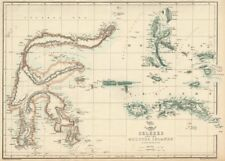 CELEBES & THE MOLUCCA ISLANDS.Dutch East Indies Sulawesi Maluku.WELLER 1863 map