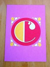 JESSICA HISCHE TYPOGRAPHIC POSTCARD ~ DAILY DROP CAPITAL LETTER ~ PINK C ~ NEW
