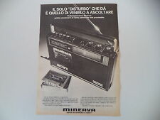 advertising Pubblicità 1973 RADIO MINERVA MC 7330