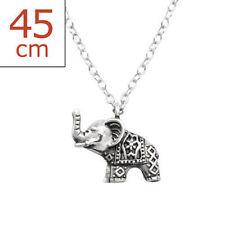 Elefanten Echtschmuck-Halsketten & -Anhänger aus Sterlingsilber