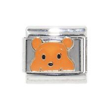 Winnie the Pooh face Italian Charm -fits 9mm classic Italian charm bracelets