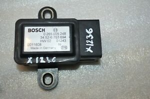 X-1236 BOSCH ESP YAW RATE SENSOR 34.52-6753694 0265005248
