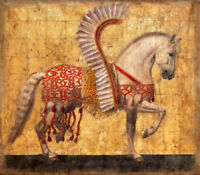 ENOPT422 fine abstract animal horse art hand-painted oil painting on canvas