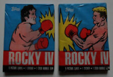 2 Unopened Packs 1985 Rocky IV Movie Cards ~ Silvester Stallone Dolph Lundgren