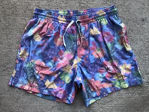 "Chubbies Men's Tropical Swim Trunks XL Large 5.5"" Stretch Liner Shorts Flowers"
