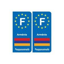 F Europe Arménie Armenia autocollant plaque -  Angles : droits