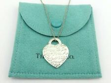 Authentic TIFFANY & CO Sterling Silver Notes Heart Tag Pendant Necklace