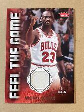 Michael Jordan 2008-09 Fleer Feel The Game Used Jersey Bulls #FG-MJ