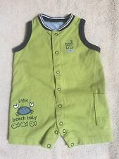 Carters Little Beach Baby Romper w/ side pocket  Size 6 Mo 100% Cotton