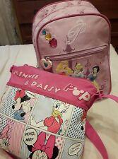 Borsa + zaino Disney rosa Minnie principesse Tracolla zainetto dolce & kelly bag