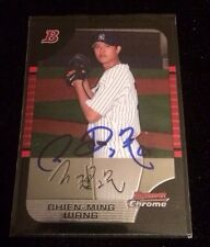 CHIEN MING WANG 2005 TOPPS BOWMAN RC Autographed Signed AUTO Baseball Card BDP4