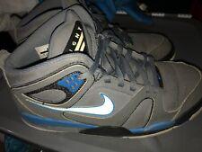 Nike Air Flight Mens 10.5 High Top Sneakers Gray Blue Basketball
