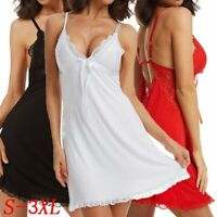 Women Lingerie Underwear Lace Robe Dress Babydoll Nightdress Nightgown Sleepwear