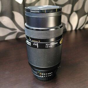 Nikon Nikkor AF Zoom 70-210mm SLR Camera Lens with sky filter