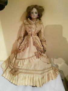 """Antique French Poupee fashion bisque porcelain doll #4 17"""""""
