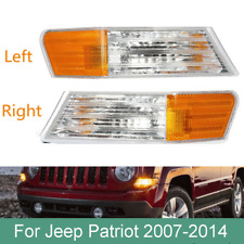2pcs Front Turn Signal Corner Light Lamp Housing for  For Jeep Patriot 2007-2014