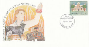 (13872) Australia Postal Stationery FDC Agricultural Colleges 1982