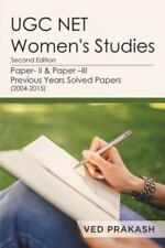 Ugc Net Women's Studies by Ved Prakash (2016, Paperback)