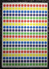 300 x  8mm ROUND COLOURED DOTS STICKERS CIRCLE CODE SPOT STICKY PLANNER LABELS