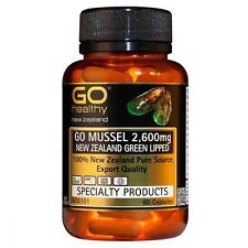 Go Healthy GO Mussel NEW ZEALAND Green Lipped Mussel 2,600mg 60 Capsules