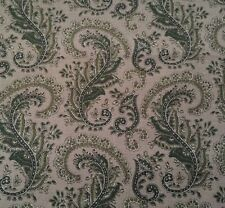 Paisley Faye Burgos for Marcus Brothers BTY Sage Greens on Dark Beige