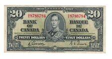 Canada 1937 $20 Bank of Canada Banknote D/E Lot#2