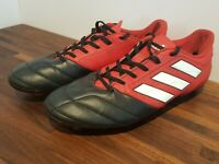 Adidas BA9692 Men's Red Black Football Boots Soccer Shoes UK 8