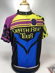 Primal Full Zip Short Sleeve Cycling Jersey Mens 2XL Death Ride Tour Defeat ALS