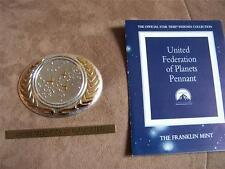 UNITED FEDERATION OF PLANETS SEAL FRANKLIN MINT STAR TREK  INSIGNIA SILVER
