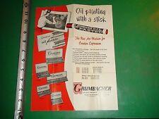 JD864 Vintage Brochure Advertising Grumbacher Oil Pastels