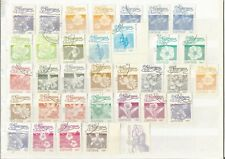 Nicaragua   1983 1985 1987  Definitives  Flowers Flora  Used Stamps on Stockcard