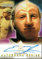 STAR TREK THE NEXT GENERATION PROFILES AUTOGRAPH CARD A18 ERIC MENYUK