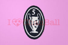 UEFA Champions League 5 Times Trophy (dark blue) Sleeve Soccer Patch / Badge