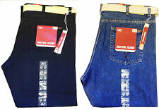 New Men's Big Size Relax Fit,Straight Leg Boston Denim Jeans Size 42-56