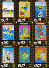 SIMPSONS FILM CARDZ SET OF 10 FOIL CEL CARDS