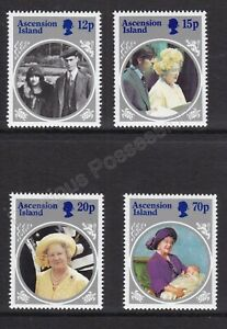 ASCENSION ISLAND MNH STAMP SET 1985 QUEEN MOTHER 85TH BIRTHDAY SG 376-379