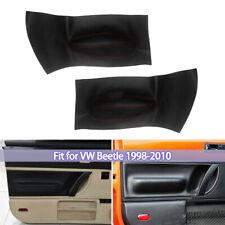 For Volkswagen Beetle 98 10 Front Door Panel Insert Cards Leather Black Cover Fits 2004 Volkswagen Beetle