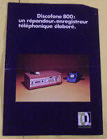 FASCICULES DISCOFONE 800: RÉPONDEUR -ENREGISTREUR TÉLÉPHONIQUE ÉLABORÉ
