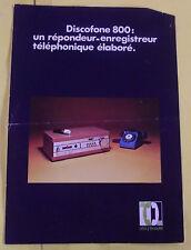 Fascicules Discophone 800: Répondeur - Enregistreur Téléphonique élaboré vintage